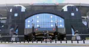 CHARLOTTE, NORTH CAROLINA/UNITED STATES- JANUARY 10: A Scene of Bank of America Stadium in Charlotte, North Carolina on [January 10, 2020] in [Charlotte]